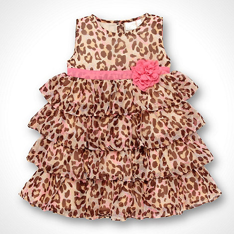 Star by Julien Macdonald - Designer Babies bright pink tiered animal dress