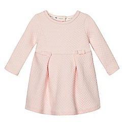 J by Jasper Conran - Baby girls' pink quilted jersey dress