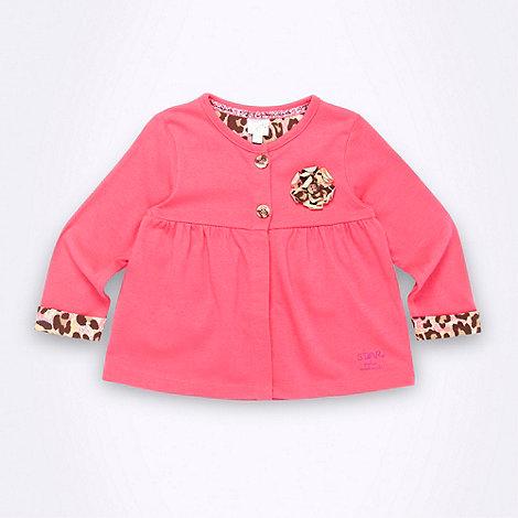 Star by Julien Macdonald - Designer baby girl+s pink jersey jacket