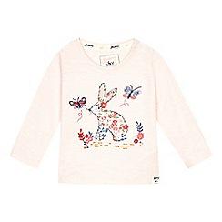 Mantaray - Baby girls' pink bunny applique top