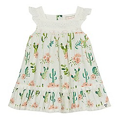 Mantaray - Baby girls' cream cactus print dress