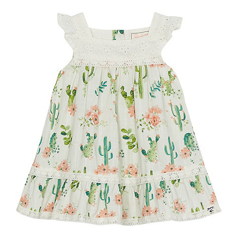Mantaray - Baby girls+ cream cactus print dress
