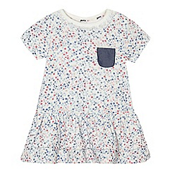 Mantaray - Baby girls' white floral print dress