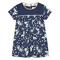 Mantaray - Baby girls' navy jersey dress