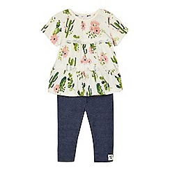 Mantaray - Baby girls' multi-coloured printed tunic and leggings set