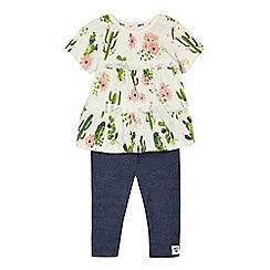 Mantaray - Baby girls' multi-coloured printed tunic and leggings set