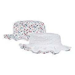 Mantaray - Baby girls' multi-coloured reversible hat