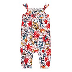 Mantaray - Baby girls' multi-coloured floral print playsuit