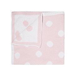 J by Jasper Conran - Designer babies pink spotted chenille blanket