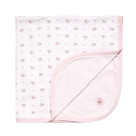 J by Jasper Conran - Designer pink floral baby blanket