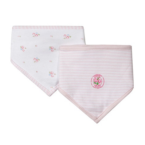 J by Jasper Conran - Designer pack of two pink dribble bibs