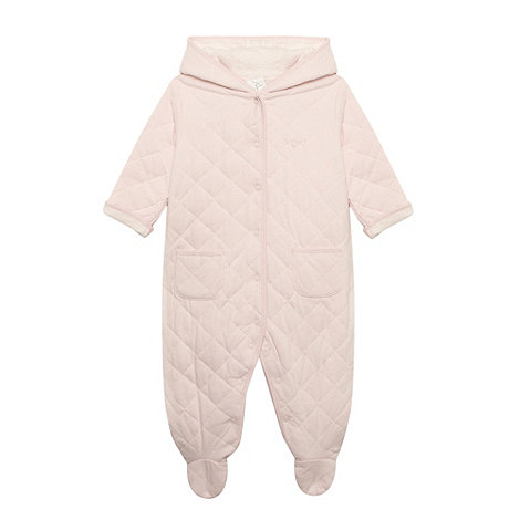 J by Jasper Conran - Designer Babies pale pink quilted suit