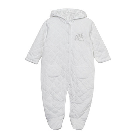 J by Jasper Conran - Designer Babies white soft quilted suit