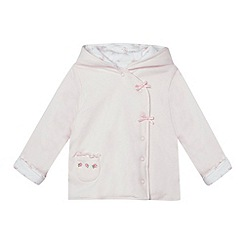 J by Jasper Conran - Babies pale pink reversible wadded jacket