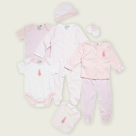 J by Jasper Conran - Designer Babies white and pink rabbit eight-piece set