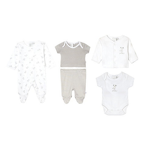 J by Jasper Conran - Designer Babies white teddy bear print eight-piece set