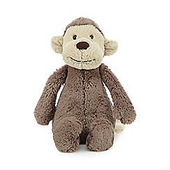 Jelly Cat - Small brown soft monkey toy