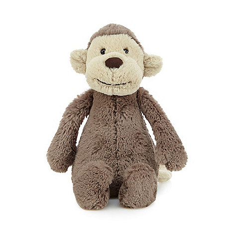 Jellycat - Small brown soft monkey toy