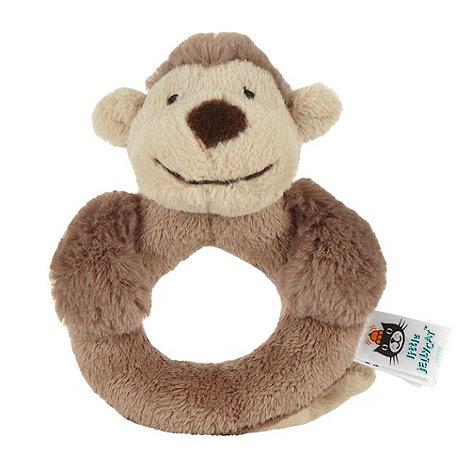 Jelly Cat - Brown faux fur monkey rattle