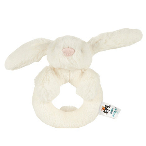 Jelly Cat - Cream faux fur bunny rattle