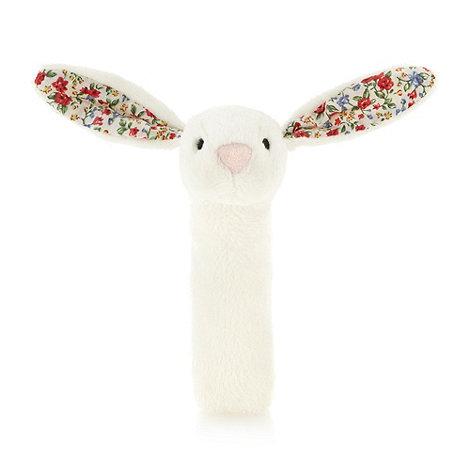 Jellycat - Babies cream floral rabbit squeaker