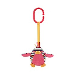 Jelly Kitten - Babies pink striped owl rattle