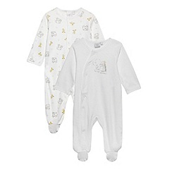 J by Jasper Conran - Designer Babies pack of two white elephant baby grows
