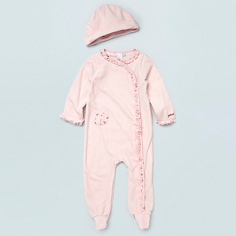 J by Jasper Conran - Designer Babies pale pink cherry printed trimmed baby grow