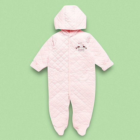 J by Jasper Conran - Designer Babies pale pink quilted baby grow