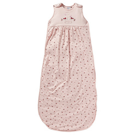 J by Jasper Conran - Designer Babies pink berry quilted sleep bag