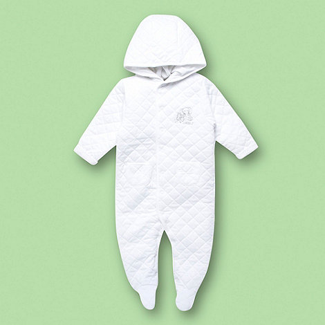 J by Jasper Conran - Designer Babies white quilted all in one suit