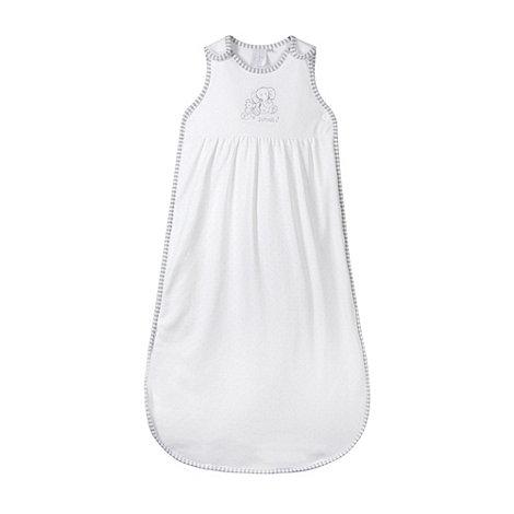 J by Jasper Conran - Designer Babies white quilted elephant sleep bag