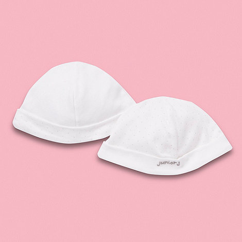 J by Jasper Conran - Designer pack of two baby girl's white elephant hat