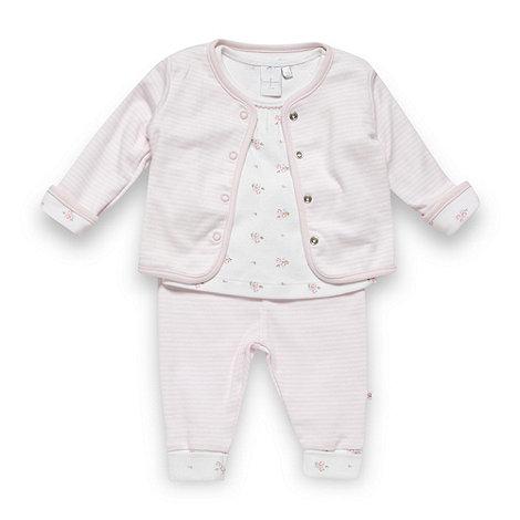 J by Jasper Conran - Designer Babies pink jersey clothing set