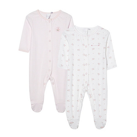J by Jasper Conran - Designer Babies pack of two pink sleepsuits