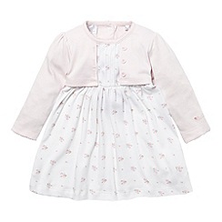 J by Jasper Conran - Designer Babies pink 2-in-1 jersey dress and cardigan