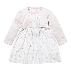 J by Jasper Conran - Designer Babies pink 2-in-1 jersey dress and cardigan