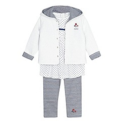 J by Jasper Conran - Designer babies white top, leggings and jacket set
