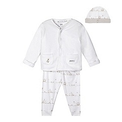 J by Jasper Conran - Designer babies white farmyard print four piece set