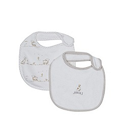 J by Jasper Conran - Pack of two designer babies white duckling bibs