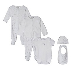 J by Jasper Conran - Designer babies white star six piece set