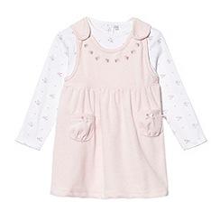 J by Jasper Conran - Designer babies pale pink floral pinafore set
