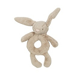 Jellycat - Babies beige plush bunny rattle toy