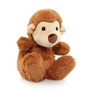 Children's brown plush monkey