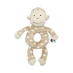 Jelly Cat - Babies brown plush monkey rattle toy