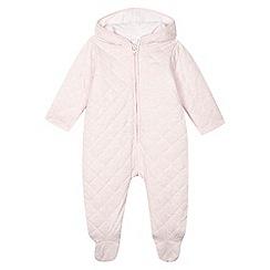 J by Jasper Conran - Designer babies pink quilted pram suit