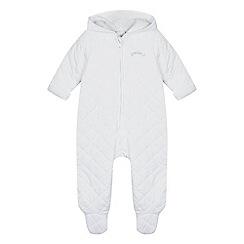 J by Jasper Conran - Designer babies white quilted pram suit