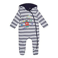 bluezoo - Baby boys' grey jersey all in one