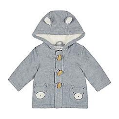bluezoo - Baby boys' grey fleece coat