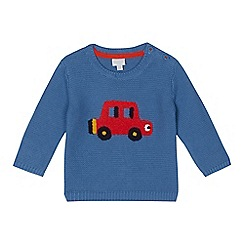 bluezoo - Baby girls' pale blue car applique jumper